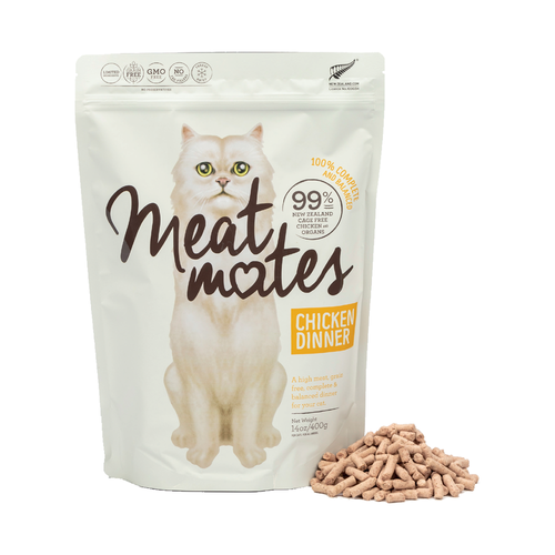 Meat Mates Meow Chicken Dinner Grain Free Freeze Dried Cat Food