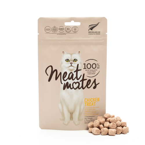 Meat Mates Meow Chicken Grain Free Freeze Dried Cat Treats