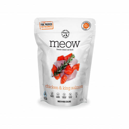 The NZ Natural Pet Food Co Meow Chicken & King Salmon Freeze Dried Cat Food