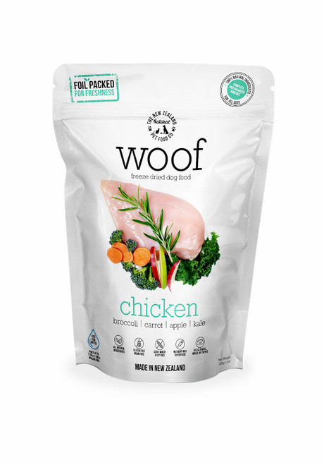 The NZ Natural Pet Food Co Woof Chicken Freeze Dried Dog Food