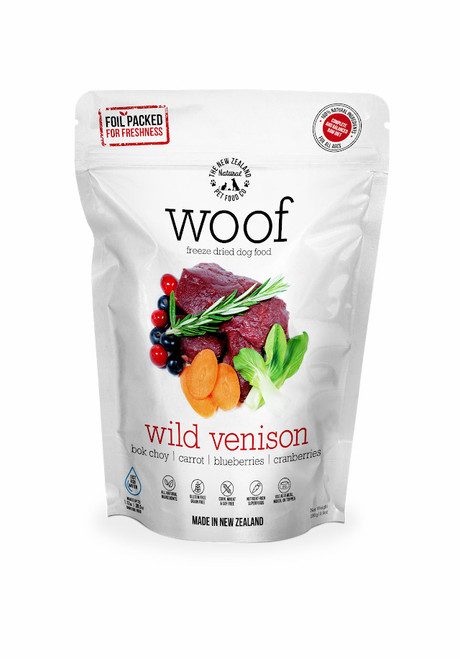 The NZ Natural Pet Food Co Woof Wild Venison Freeze Dried Dog Food