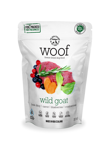 The NZ Natural Pet Food Co Woof Wild Goat Freeze Dried Dog Food