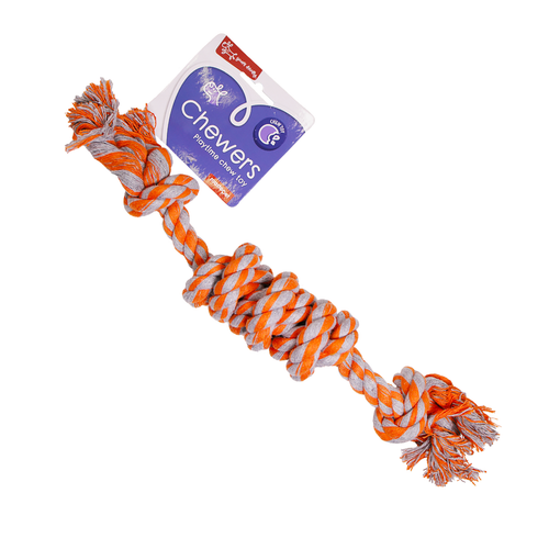 Yours Droolly Chewers Rope Knot Orange