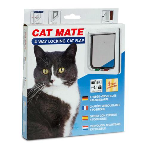 Petmate 4 Way Locking Wood Fitting Cat Door