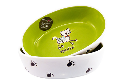 Petrageous Silly Kitty Bowl Oval