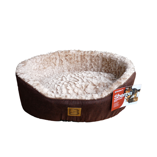 Brooklands Sherpa Clam Shell Bed