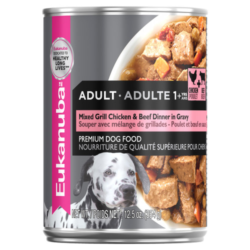 Eukanuba Adult Mixed Grill Chicken & Beef in Gravy Wet Dog Food Cans