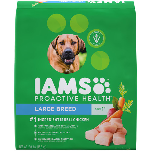 IAMS Proactive Health Large Breed Adult Dry Dog Food Chicken 13.6kg Bag