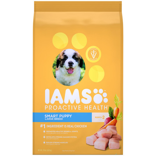 IAMS Proactive Health Large Breed Puppy Dry Dog Food Chicken 6.8kg Bag