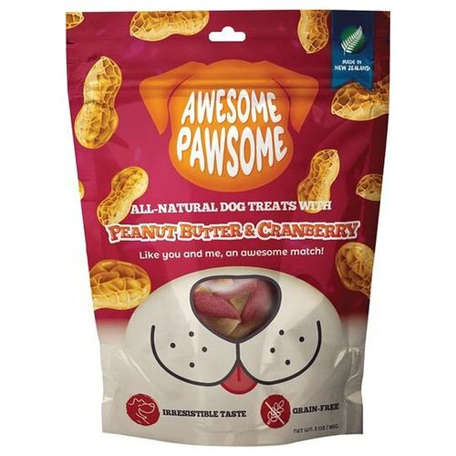 Awesome Pawsome Peanut Butter & Cranberry Dog Treats