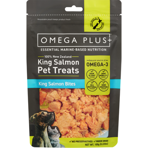 Omega Plus King Salmon Bites Pet Treats
