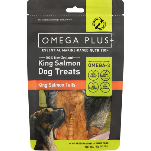Omega Plus King Salmon Tails Pet Treats