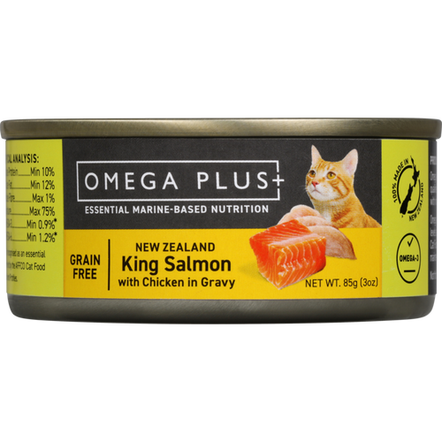 Omega Plus King Salmon and  Chicken Wet Cat Food