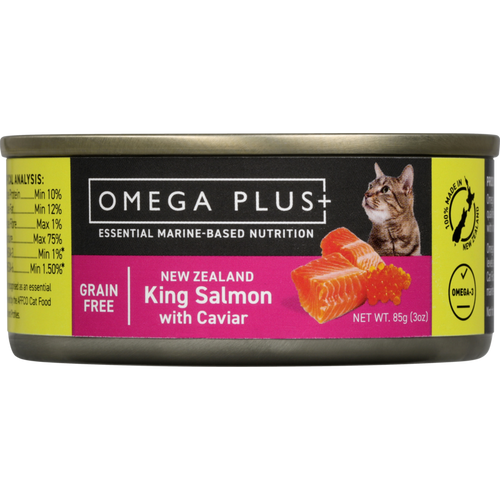Omega Plus King Salmon and Caviar Wet Cat Food