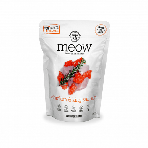 The NZ Natural Pet Food Co Meow Chicken & King Salmon Freeze Dried Cat Treats