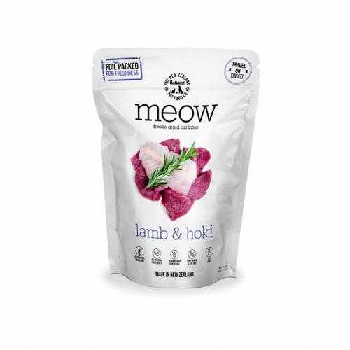 The NZ Natural Pet Food Co Meow Lamb & Hoki Freeze Dried Cat Treats