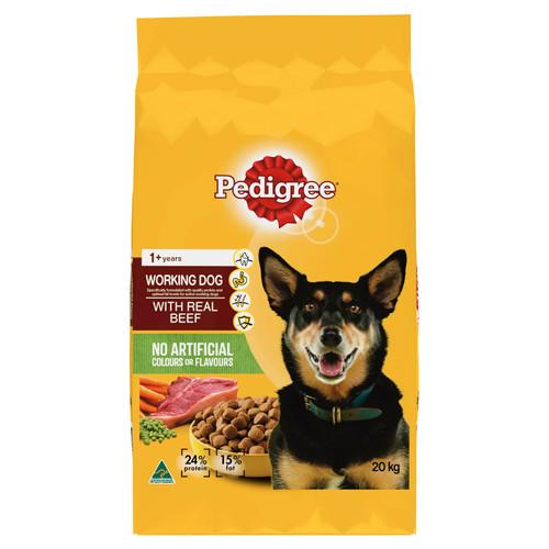 Pedigree Working Dog Formula Real Beef Dry Dog Food