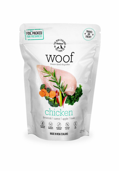 The NZ Natural Pet Food Co Woof Chicken Freeze Dried Dog Treats