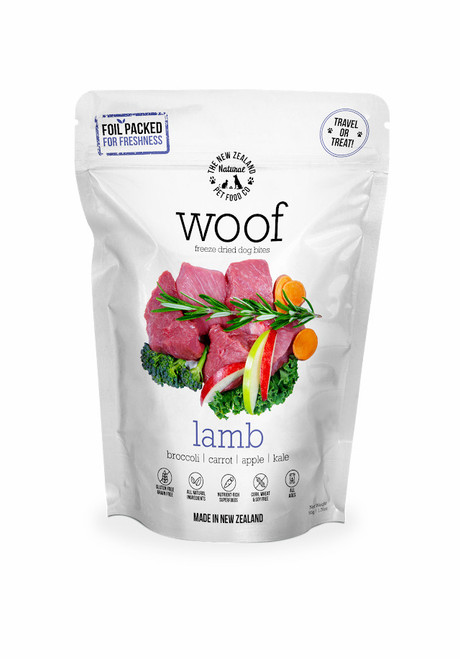 The NZ Natural Pet Food Co Woof Lamb Freeze Dried Dog Treats