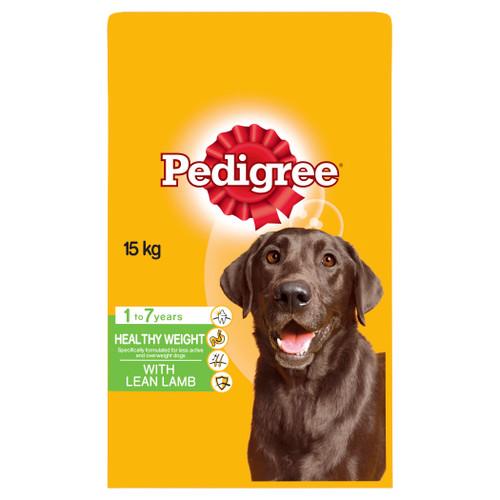 Pedigree Adult Healthy Weight Lean Lamb Dry Dog Food