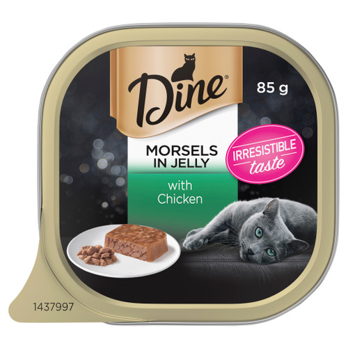 Dine Wet Cat Food Morsels In Jelly With Chicken 85g Can