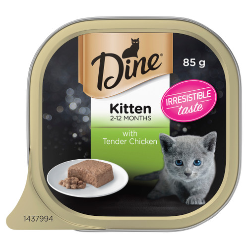 Dine Kitten Wet Cat Food With Tender Chicken 85g