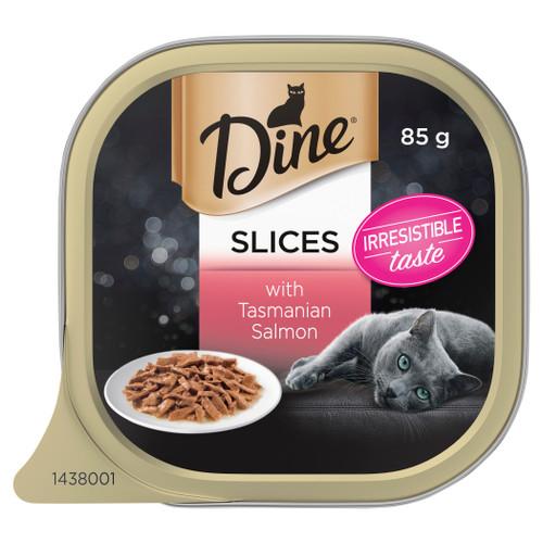 Dine Wet Cat Food Slices With Tasmanian Salmon 85g