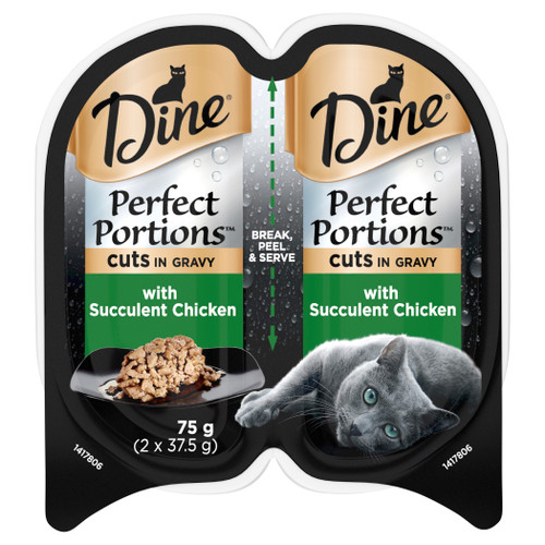 Dine Perfect Portions Wet Cat Food Cuts In Gravy With Succulent Chicken