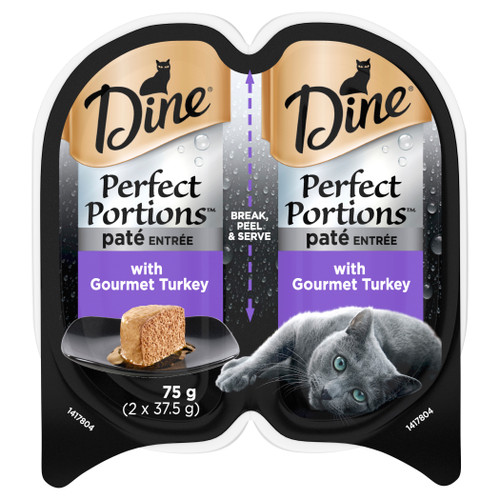 Dine Perfect Portions Wet Cat Food Pate Entree Gourmet Turkey