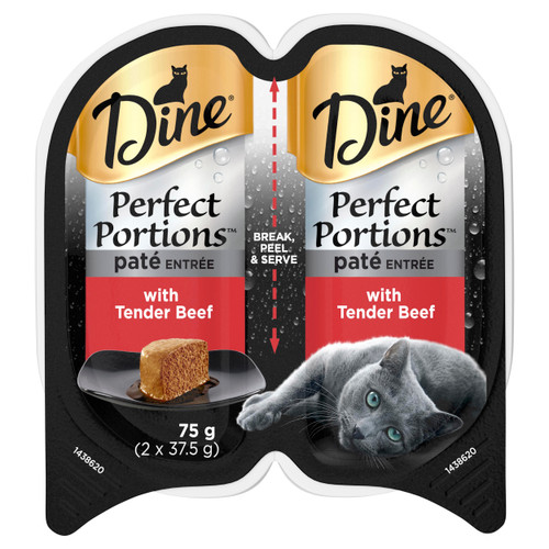 Dine Perfect Portions Wet Cat Food Pate Entrée With Tender Beef