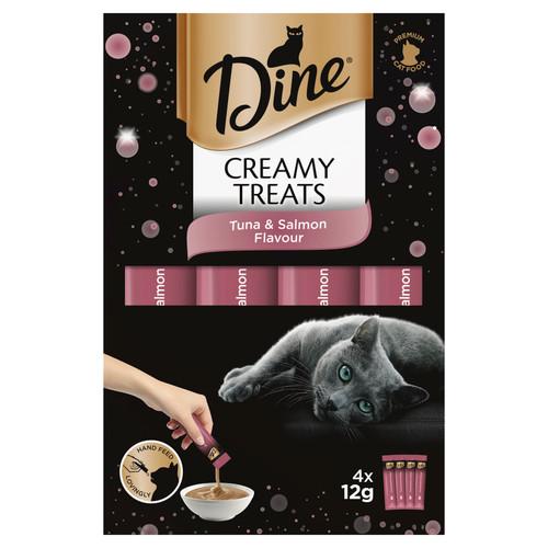 Dine Creamy Treats Tuna & Salmon