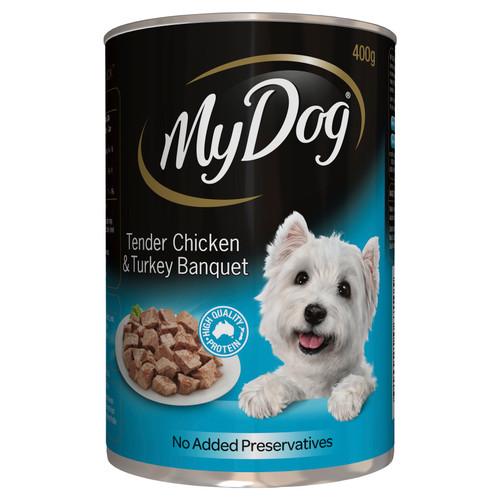 My Dog Wet Dog Food Chicken & Turkey Banquet 400g Can