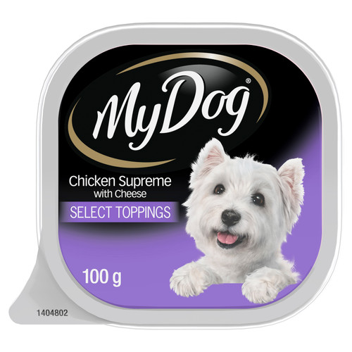My Dog Wet Dog Food Chicken Supreme With Cheese Select Toppings 100g Tray