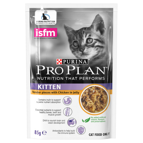 Pro Plan Kitten Chicken in Jelly Wet Food Pouches