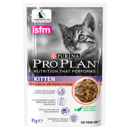 Pro Plan Kitten Salmon in Gravy Wet Food Pouches