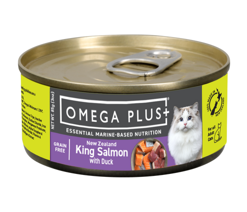 Omega Plus King Salmon with Duck Wet Cat Food Cans