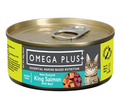 Omega Plus King Salmon with Beef Wet Cat Food Cans