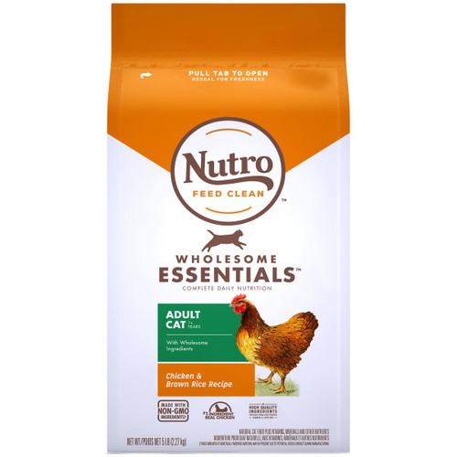 Nutro Wholesome Essentials Adult Cat Dry Cat Food with Chicken Bag