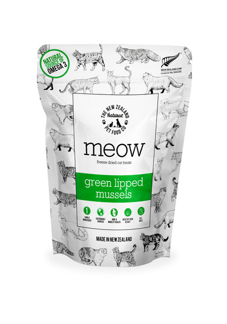 The NZ Natural Pet Food Co Meow Green Lipped Mussel Treats 50g