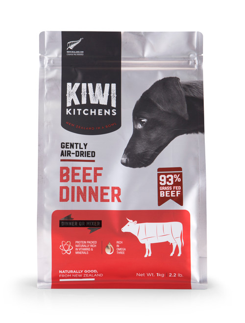 Kiwi Kitchens Air Dried Beef Dinner Dry Dog Food
