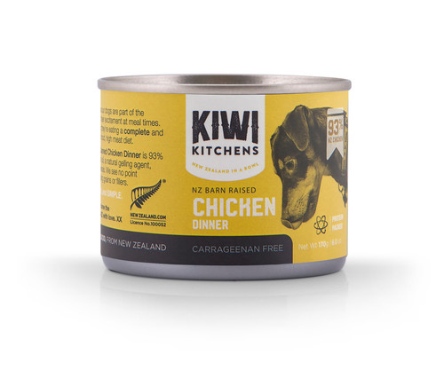 Kiwi Kitchens Chicken Wet Dog Food Cans