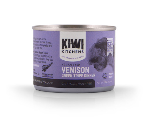 Kiwi Kitchens Vension Tripe Wet Dog Food Cans