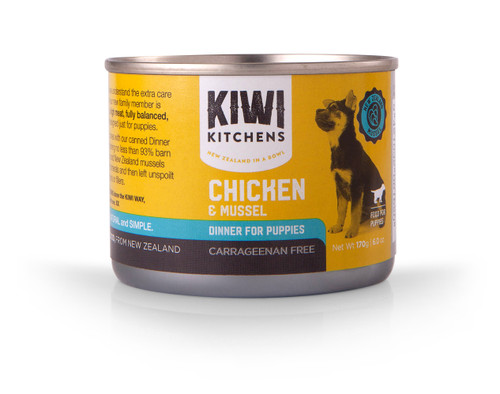 Kiwi Kitchens Chicken & Mussels Wet Puppy Food Cans