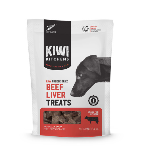 Kiwi Kitchens Freeze Dried Beef Liver Dog Treat