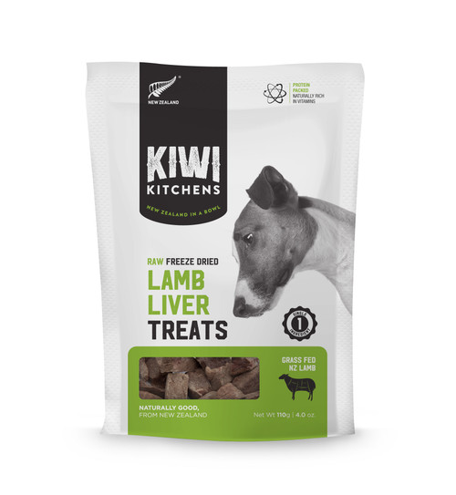 Kiwi Kitchens Freeze Dried Lamb Liver Dog Treat
