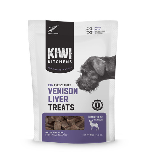 Kiwi Kitchens Freeze Dried Venison Liver Dog Treat