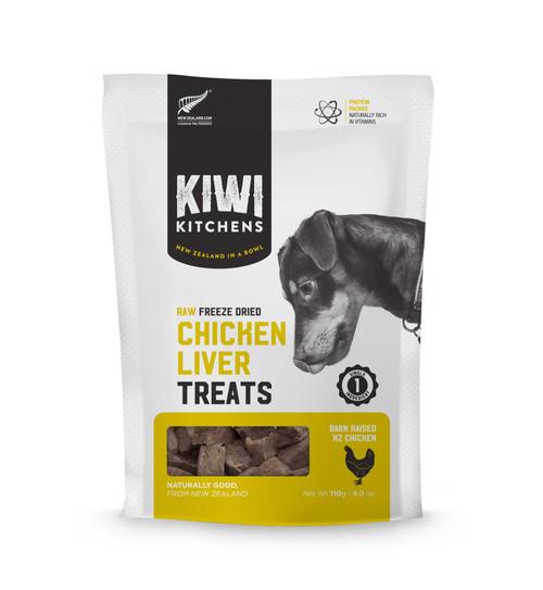 Kiwi Kitchens Freeze Dried Chicken Liver Dog Treat