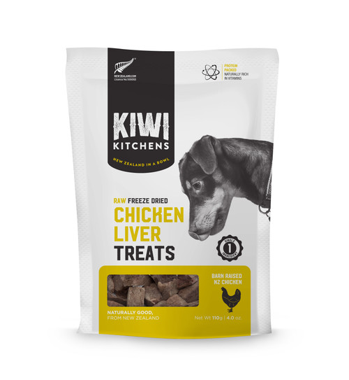 Kiwi Kitchens Freeze Dried Chicken Liver Dog Treat