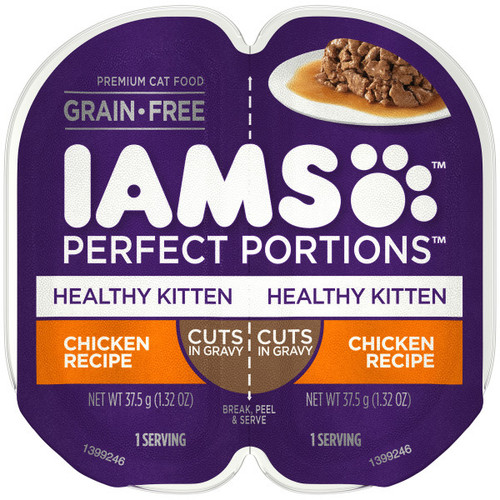 IAMS Perfect Portion Healthy Kitten Chicken in Gravy Wet Cat Food
