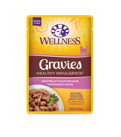 Wellness Healthy Indulgence Tuna & Mackeral in Gravy Wet Cat Food